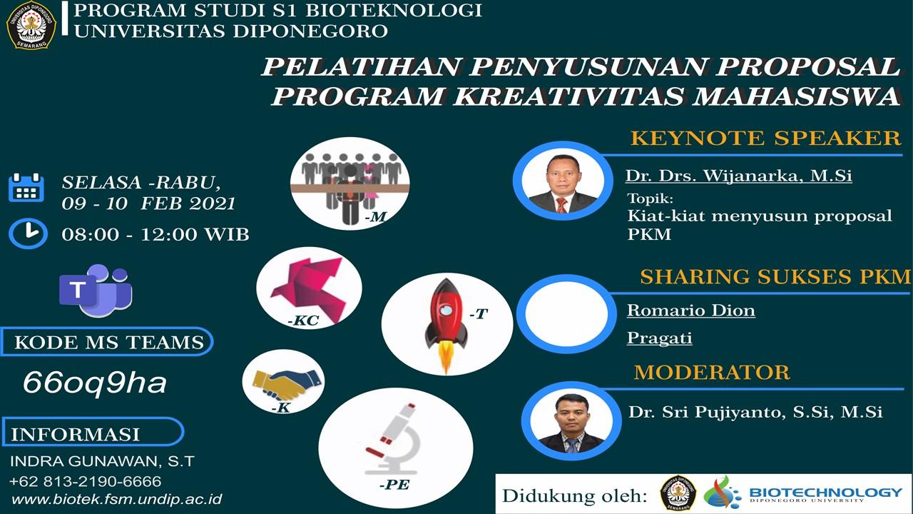 PKM PROPOSAL PREPARATION TRAINING