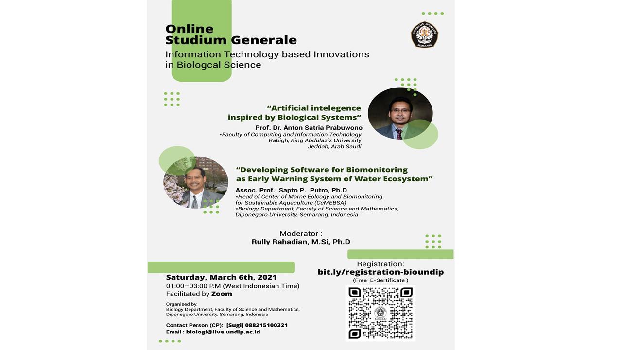 "Online Studium Generale ""Information Technology Based Innovations In Biological Science"""